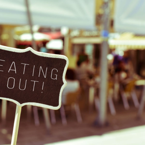 eating out sign