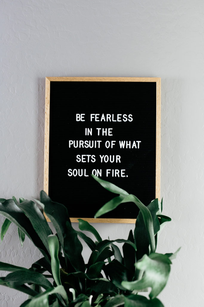 be fearless sign
