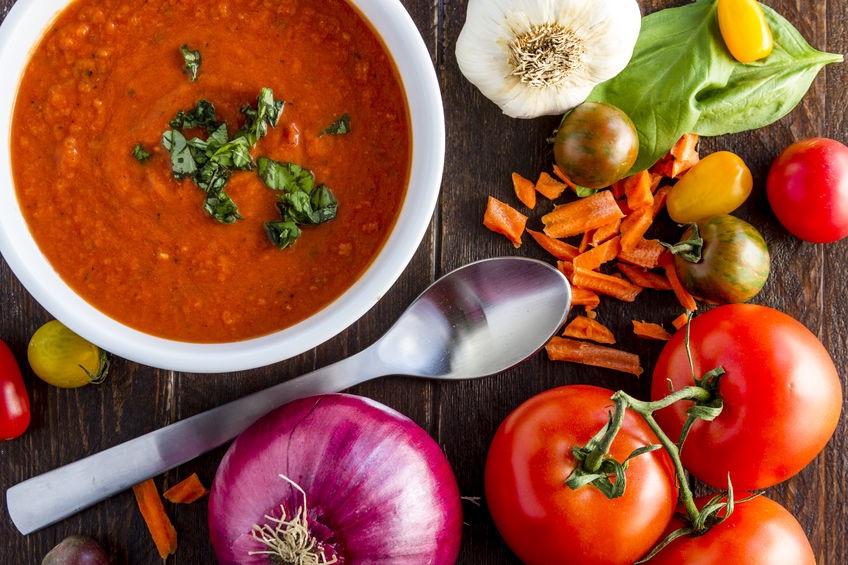 Creamy Tomato Soup with White Bean